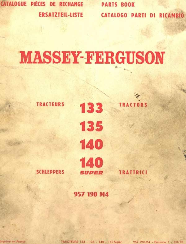 Couverture catalogue pièces Massey Ferguson