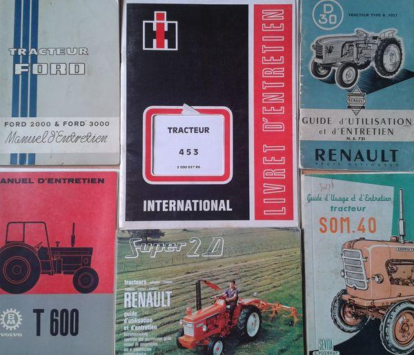 Exemples de notice d'entretien de tracteur