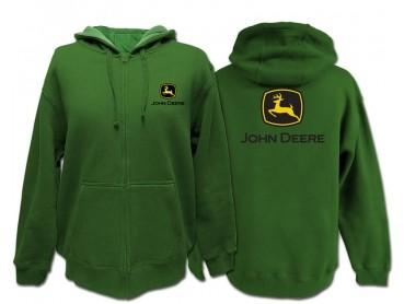 sweat à capuche tracteur John Deere