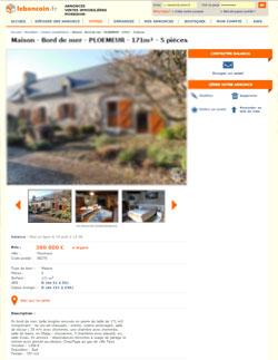 trouver l'adresse d'une annonce de bien immobilier sur le boncoin